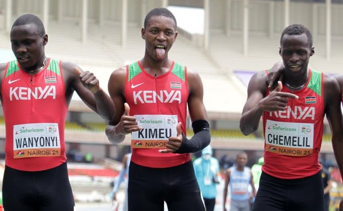 Kenya storms to the 4x100m finals