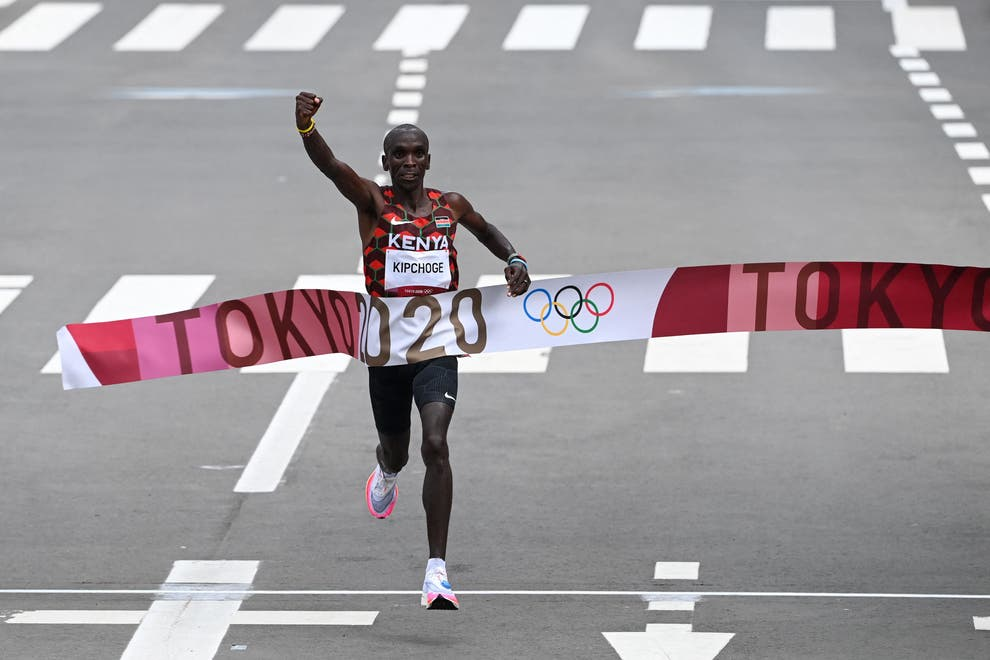 Eliud Kipchoge defends his Olympic marathon title. Photo Creditd: Getty Images