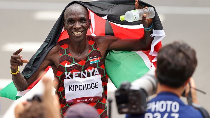 Eliud Kipchoge's footwear helped him become the first athlete to run a marathon in under two hours