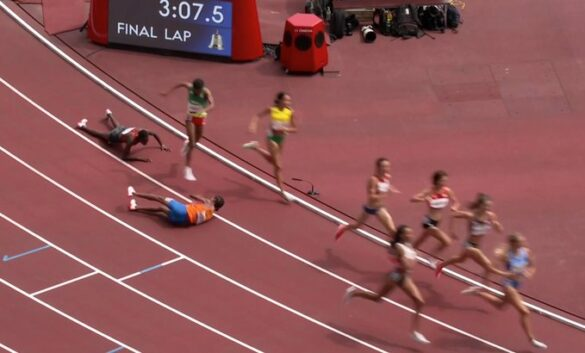 Twitter reacts as Sifan Hassan falls in women's 1500 meter, then comes back to win semifinal race