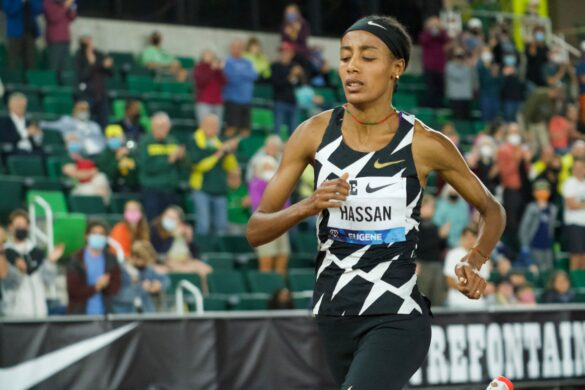 Sifan Hassan misses 5,000m world record at Eugene Diamond League