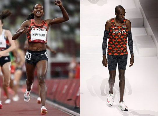 Timothy Cheruiyot and Faith Kipyegon are the top ranked Africans in the latest world rankings