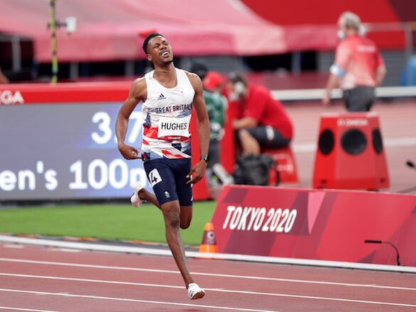 BBC slammed for Zharnel Hughes interview as Team GB star unable to speak following DQ