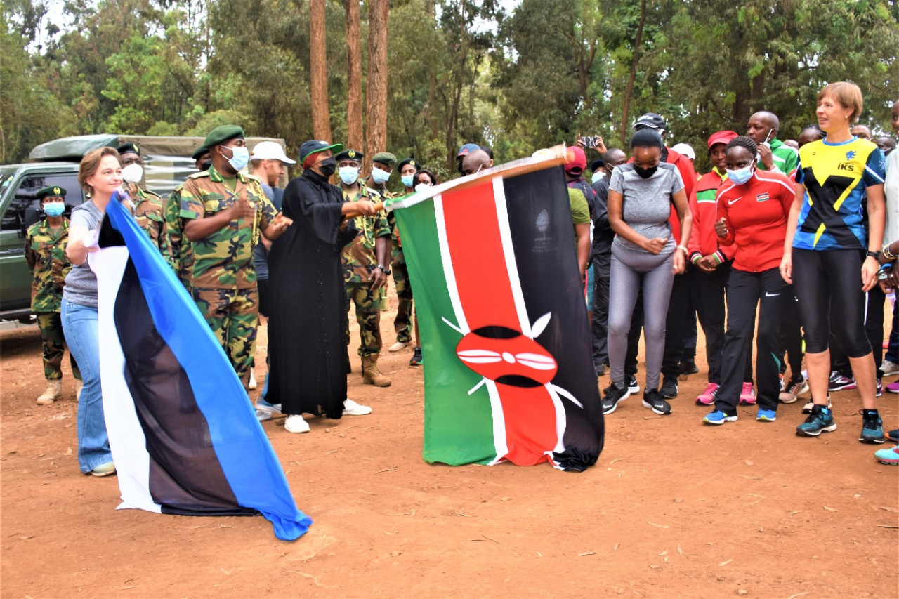 The 10KM race being flagged off by Sports CS Amb Amina Mohamed. PHOTO: Foreign Affairs Kenya