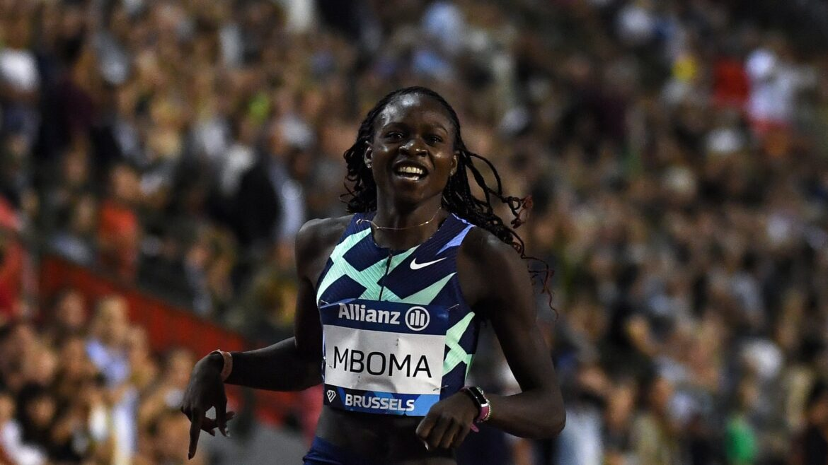 Christine Mboma stuns stars in 200m race in Brussels