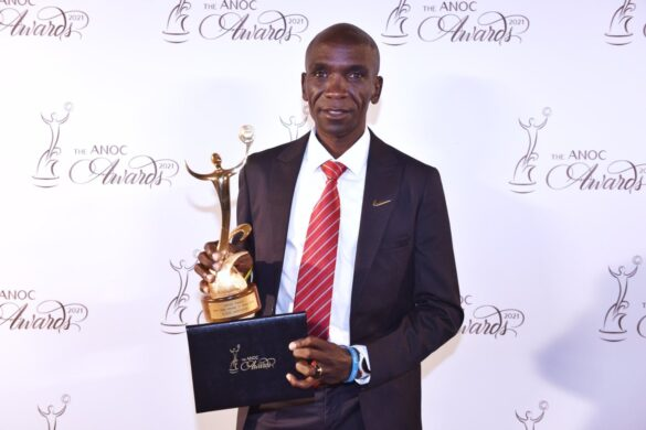 Eliud Kipchoge honored as the best male athlete at ANOC awards