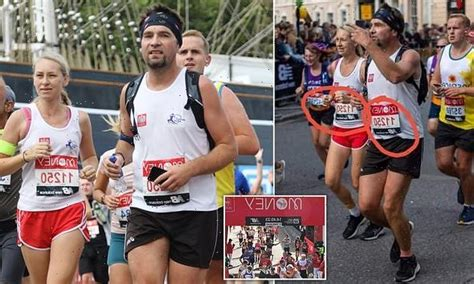 Monika Czarnecka and her husband Piotr have been accused of cheating. Photos show the pair running in vests with the same number on. PHOTO: TWITTER